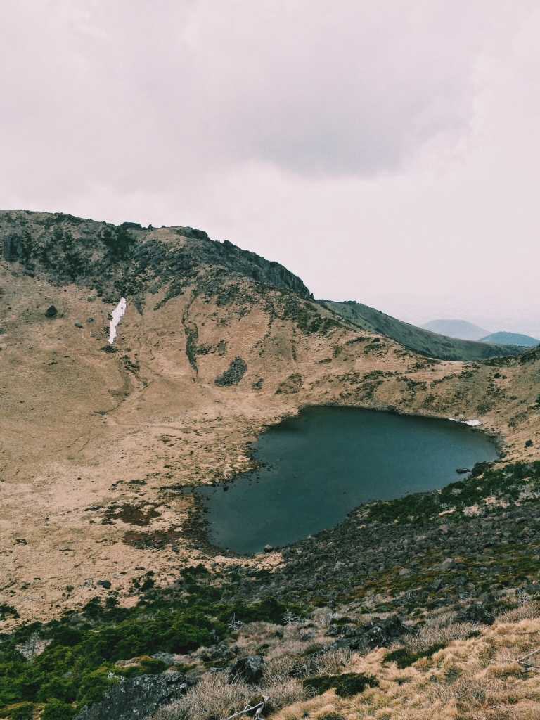 Crater Lake at the top of Halla Mountain