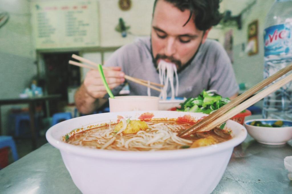 Bun bo in Hanoi, Vietnam