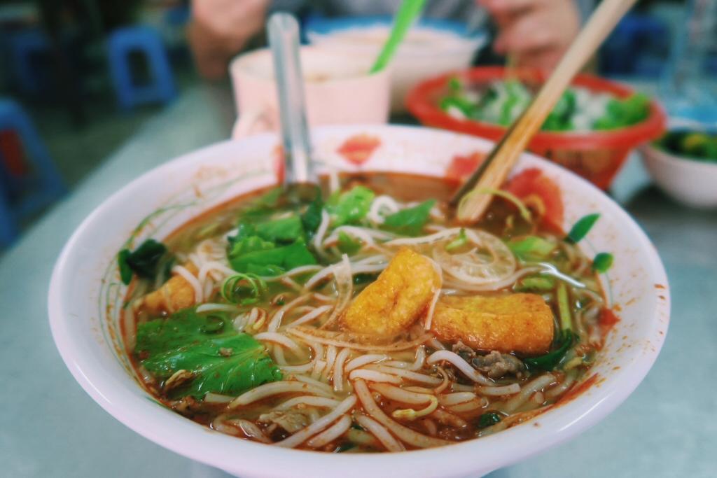 Bun Bo - Vietnamese soup with vermicelli rice noodles