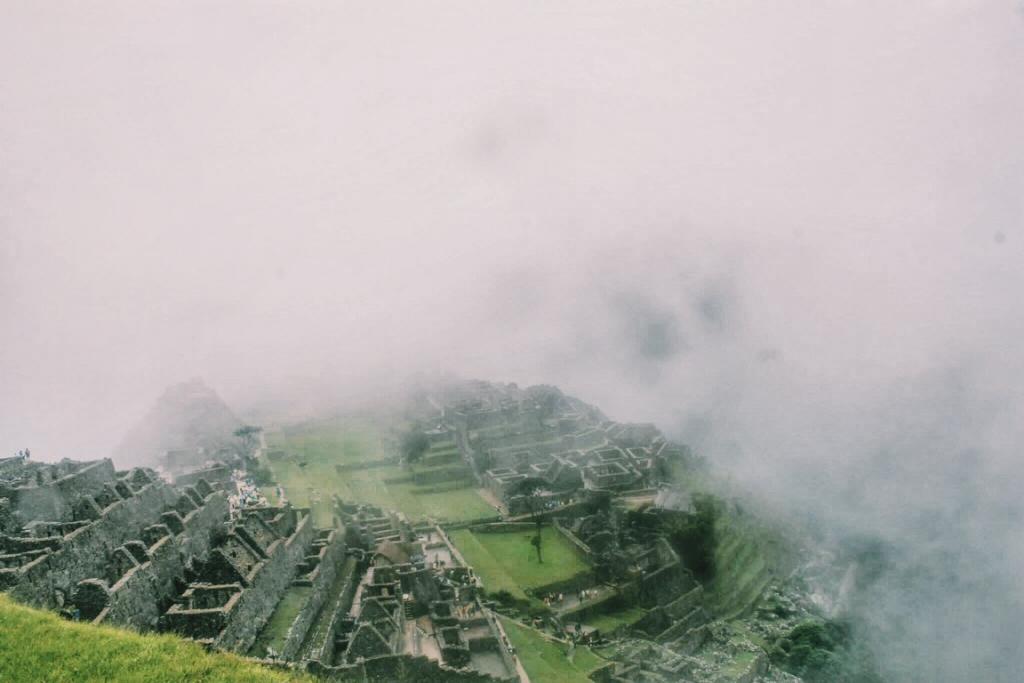 Fog clearing from Machu Picchu