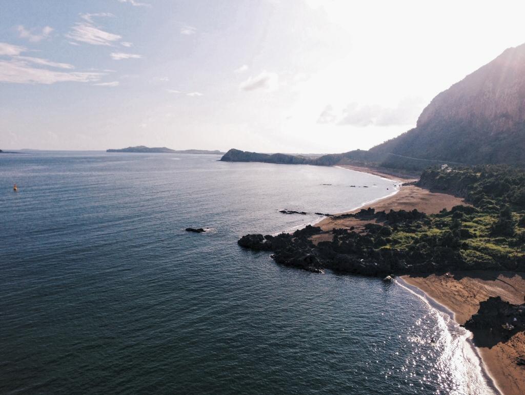 Sanbangsan Mountain and Hidden Beach on Jeju Korea