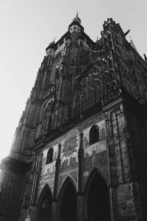Gothic Prague Castle, St. Vitus Cathedral