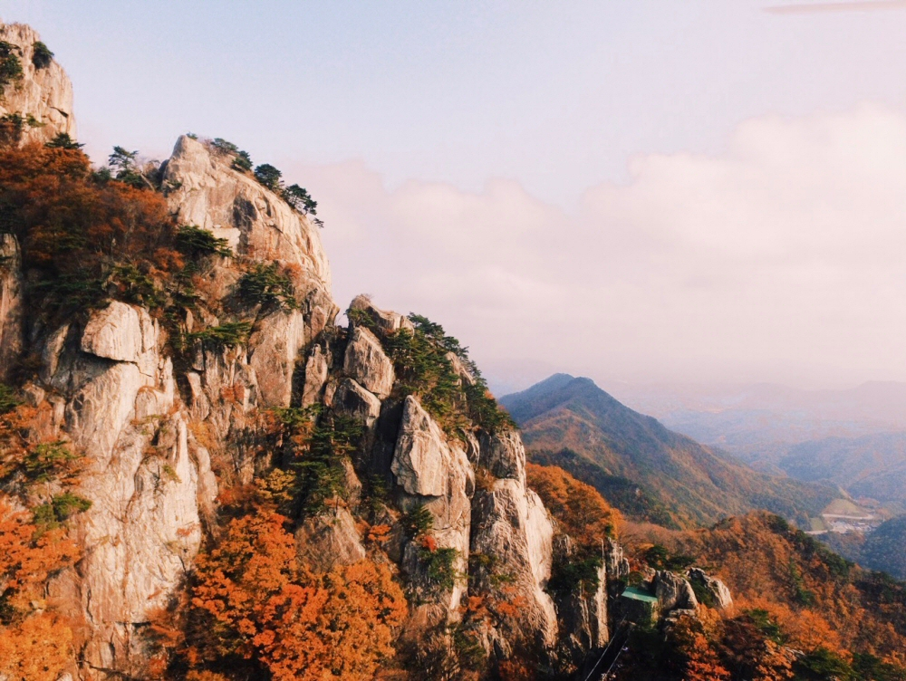 Daedunsan Mountain, South Korea autumn