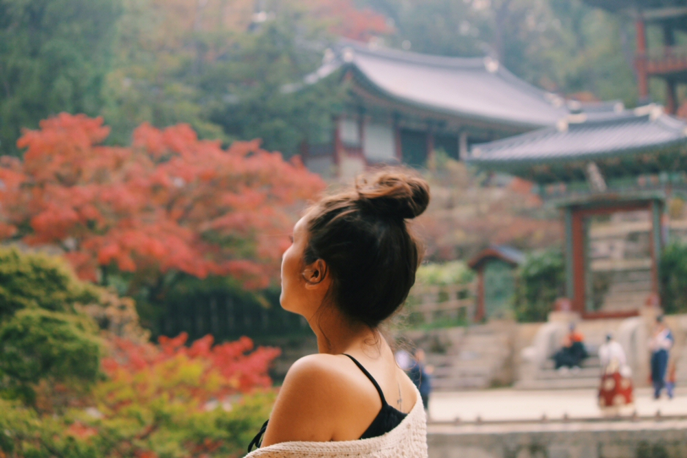South Korea autumn, Changdeokgung Palace, Lauren