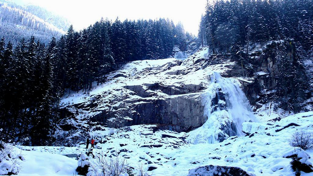 Krimml Waterfalls in Austria's Salzburgerland - traveljunkiegirl, top winter travel destination
