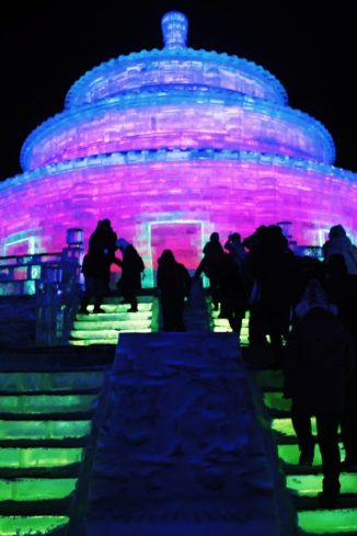 Ice Temple of Heaven at Harbin Ice Festival