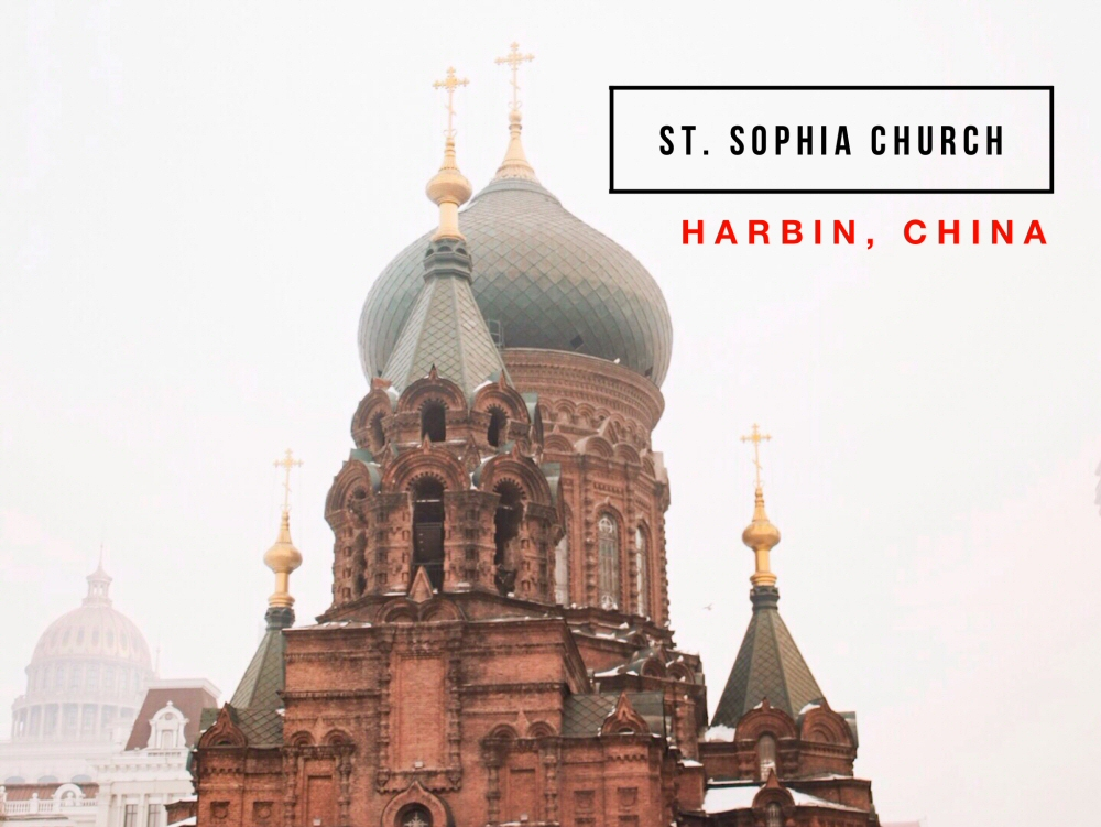 The city of Harbin in China is famous for its Russian influences, most notably the Byzantine Revival-designed Saint Sophia Cathedral (St. Sophia Church).