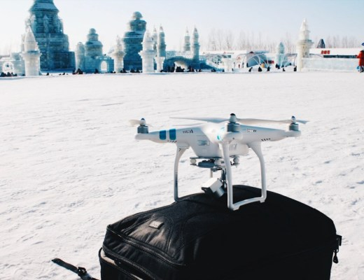 Travel with a drone in winter cold temperatures