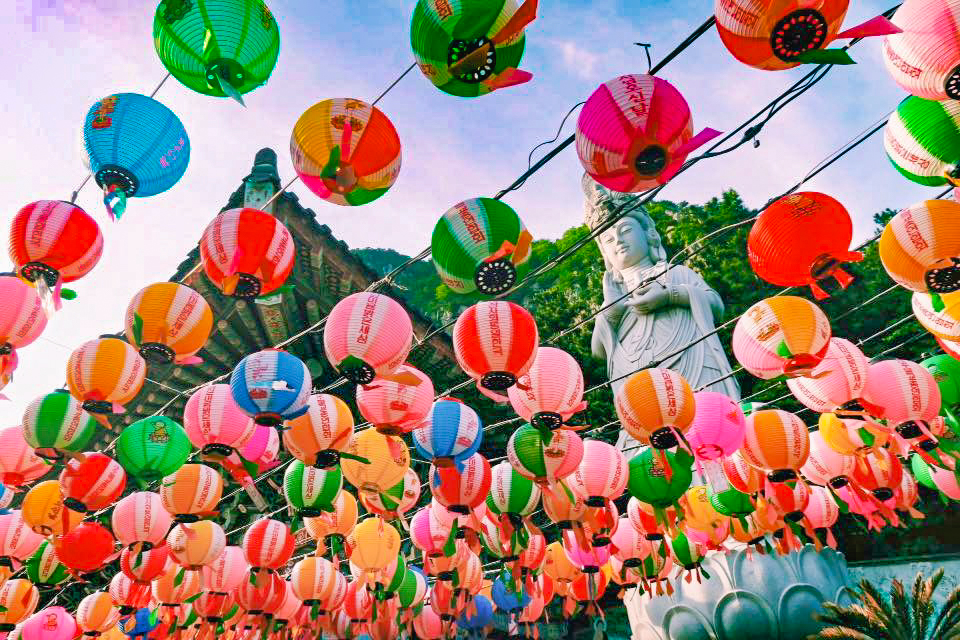 Spring in Korea for Sanbangsan Buddhist Temple