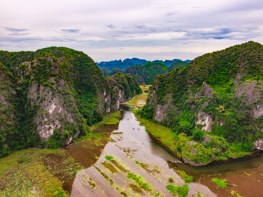 Tam Coc Boat Tour in Ninh Binh, Vietnam Guide for drone