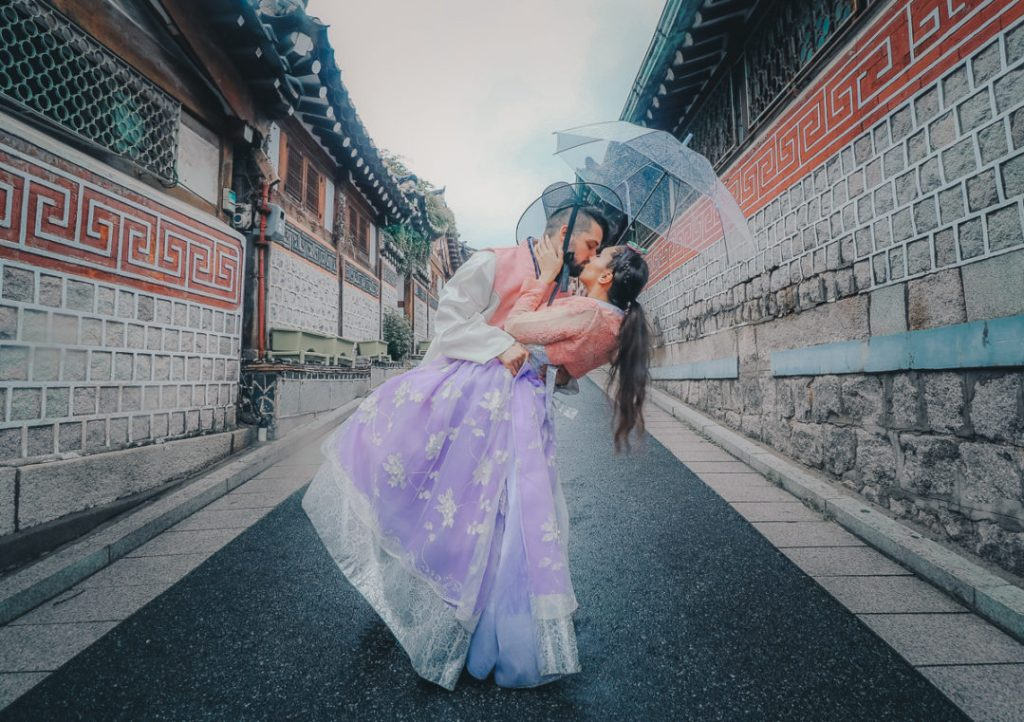 Couples Hanbok Rental in Seoul, South Korea