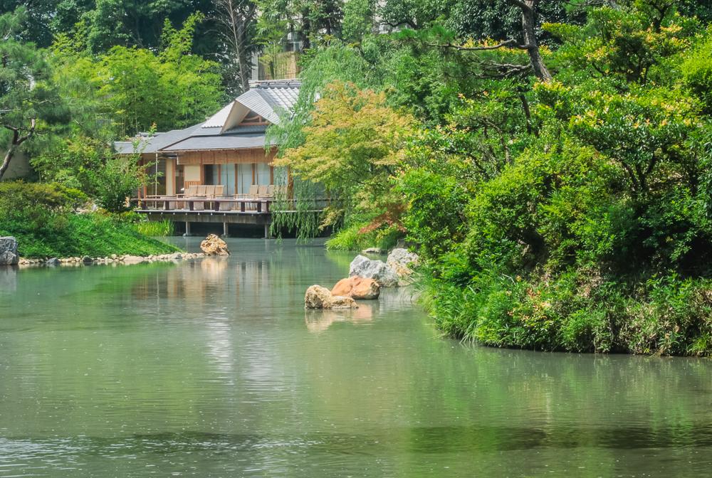 Shakusuien Pond Garden at Four Seasons Kyoto