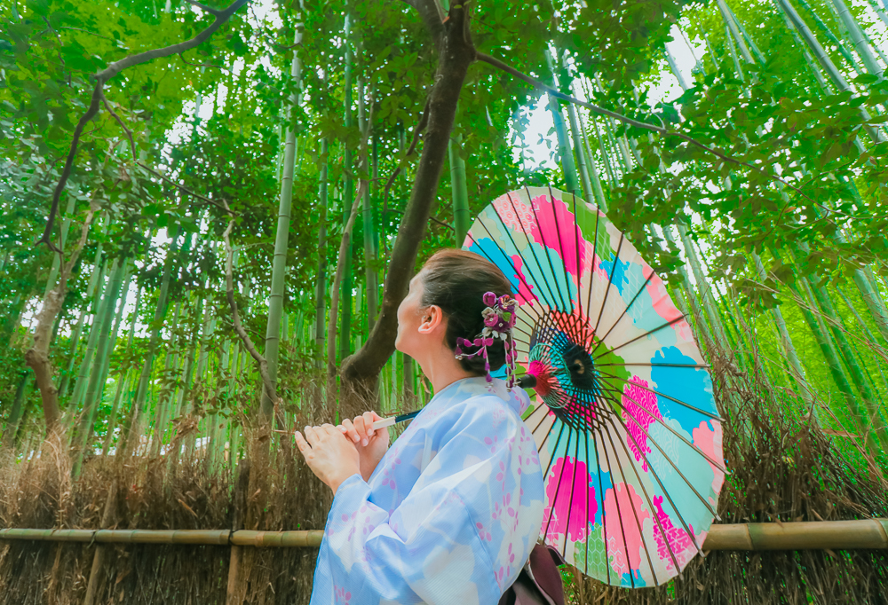 Renting a yukata in Japan