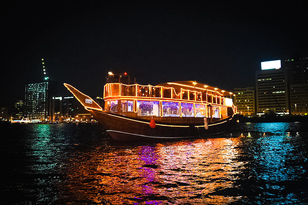 Dhow River cruise is one of the top things to do in Dubai