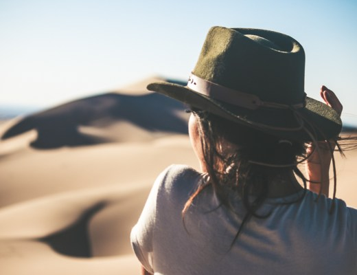 Lauren in Gobi Desert: one of the best places to travel alone