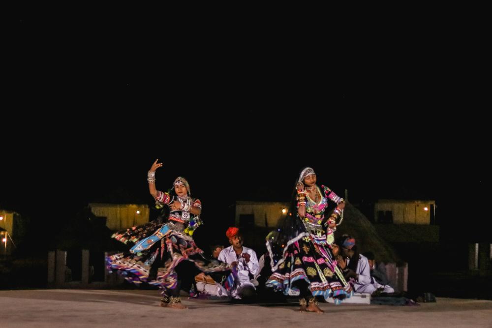 Cultural dance at the Thar Oasis Resort & Desert Camp