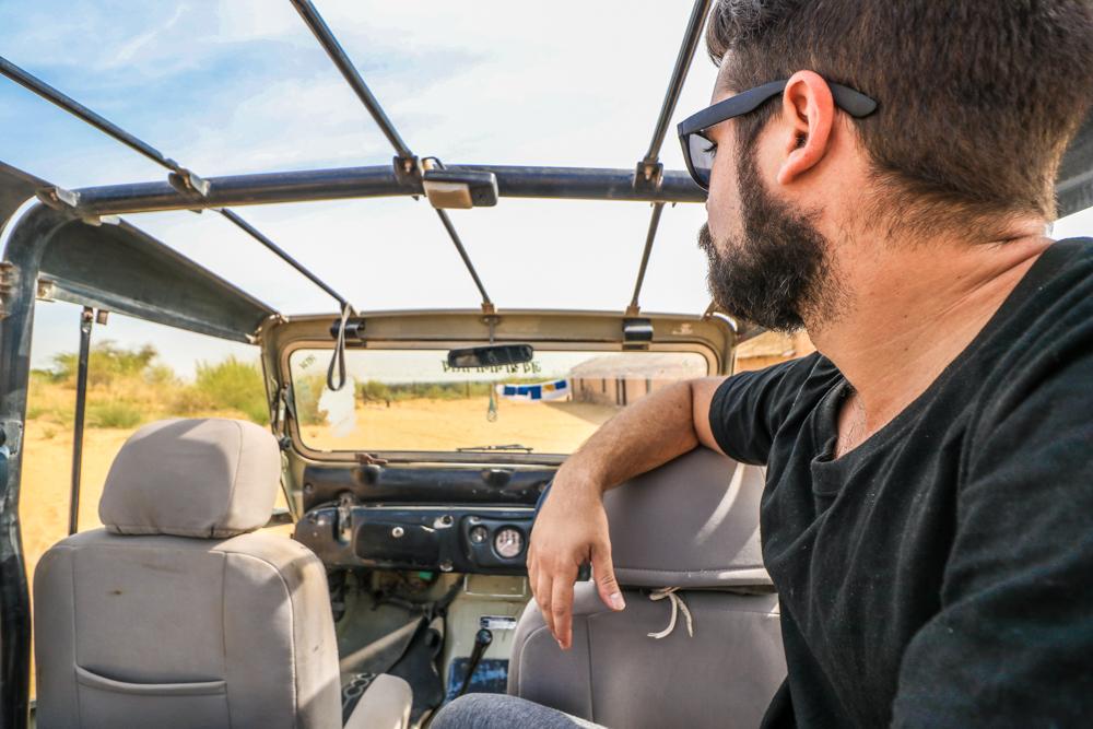 Jeep safari at Thar desert