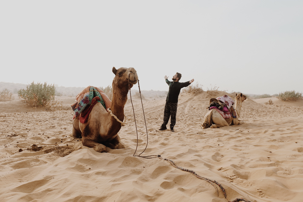 Waking up on Indian sand dunes