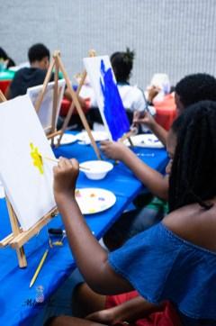 Strokes Egypt an Massaai painting