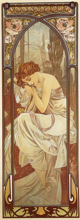 Wieczór. Alfons Mucha