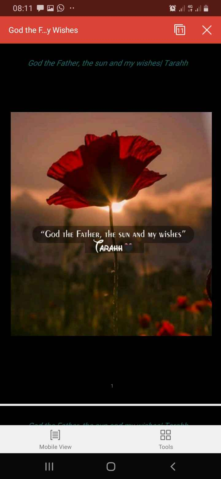 God the Father, the sun and my wishes