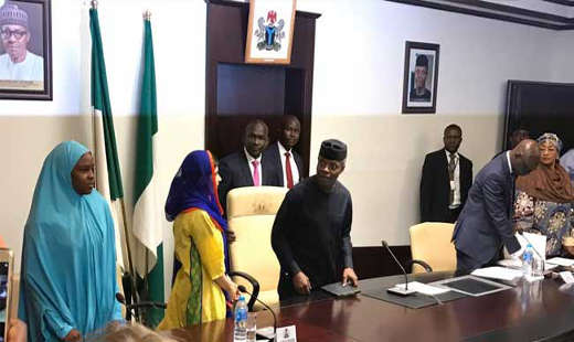 Malala meet Osinbajo Photo
