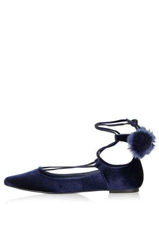 Topshop Finest Pompom Ghillie Shoes ($48)