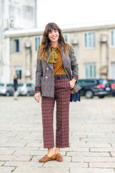 Brokigt med mixade mönster, mustiga färger och tweed.