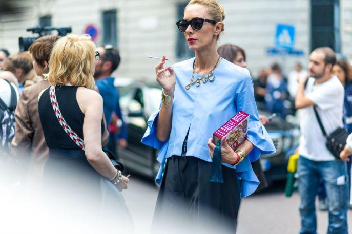 Cool och stylish i ljusblått.