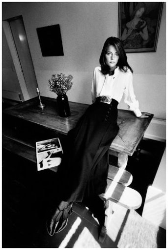 Charlotte Rampling i YSL i Vogue 1970