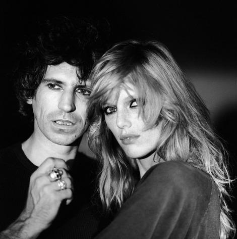 Keith Richards och Patti Hansen tidigt 80-tal