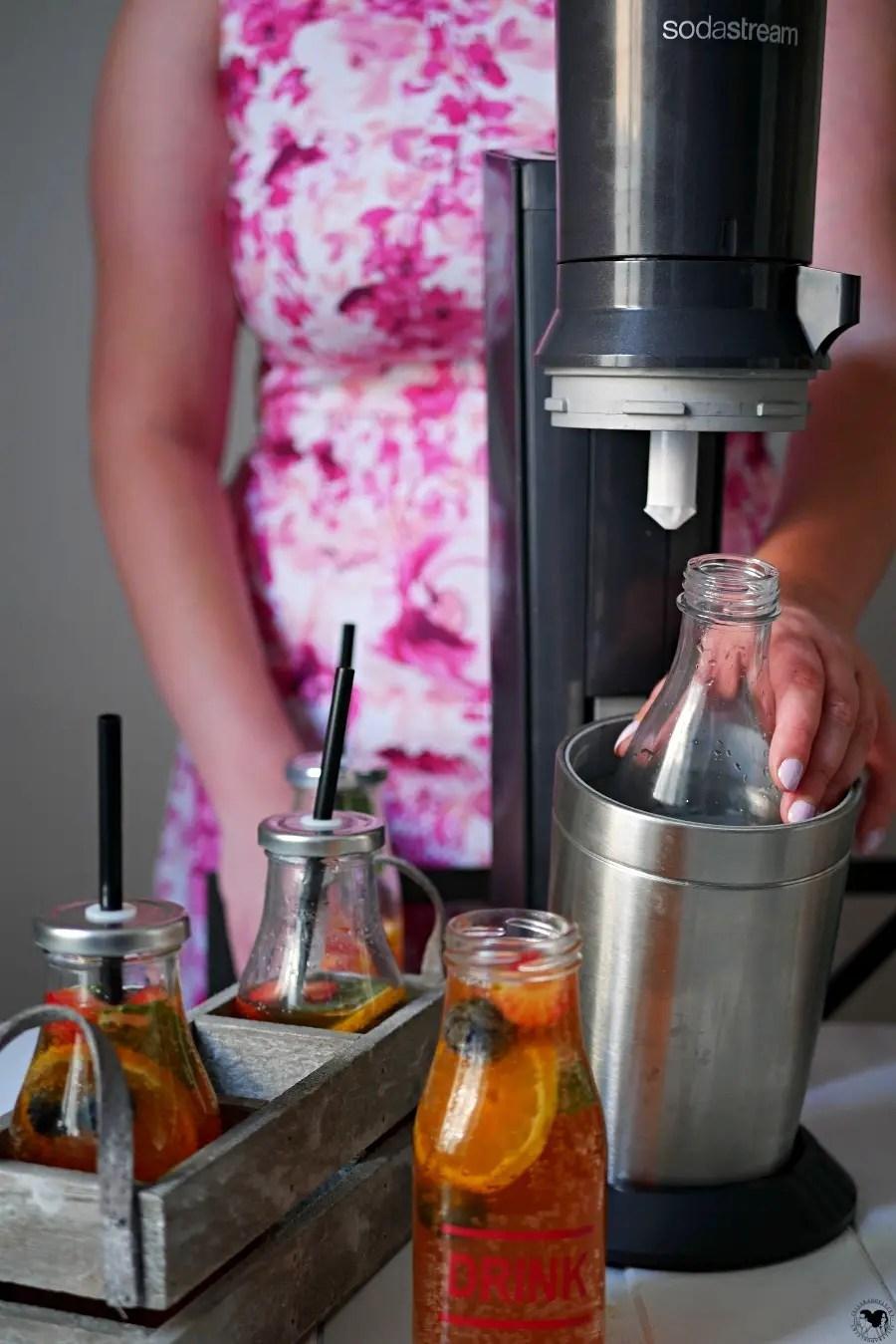sparkling ice tea tellerabgeleckt