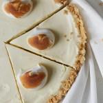 No Bake Zitronenkäsekuchen mit Keksboden