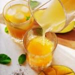 Mango-Orangen Eistee