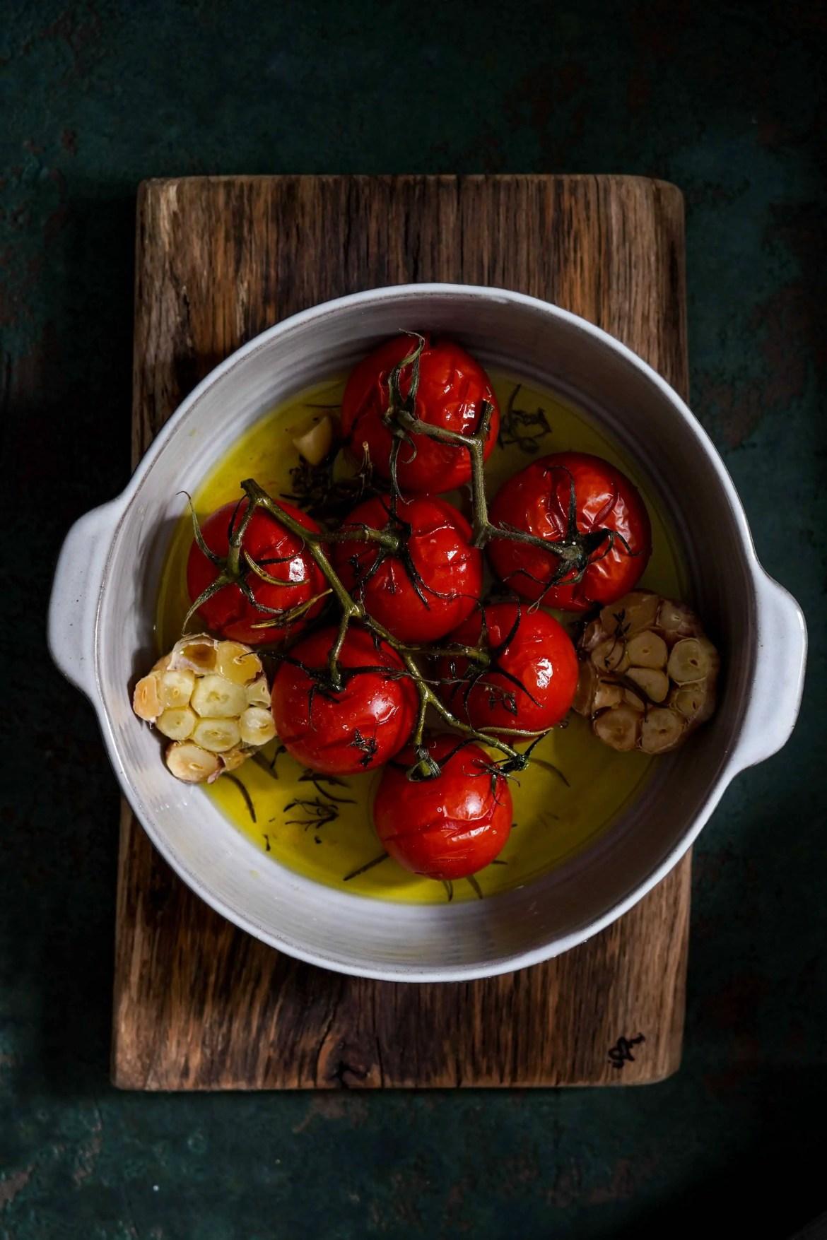 Suppe geschmorte Tomaten
