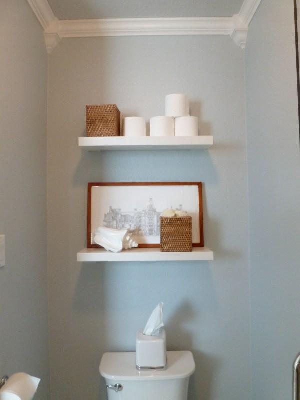 Bathroom Shelves above Toilet