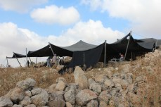 View of tent over excavation Area E