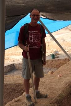 Jay Rosenberg, excavation architect, Area E 2013