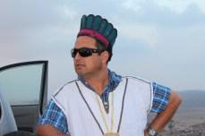 Amit Dagan having fun as Philistine atop the tell 2013
