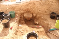 EBA vessels appearing during excavation of Area E 2013