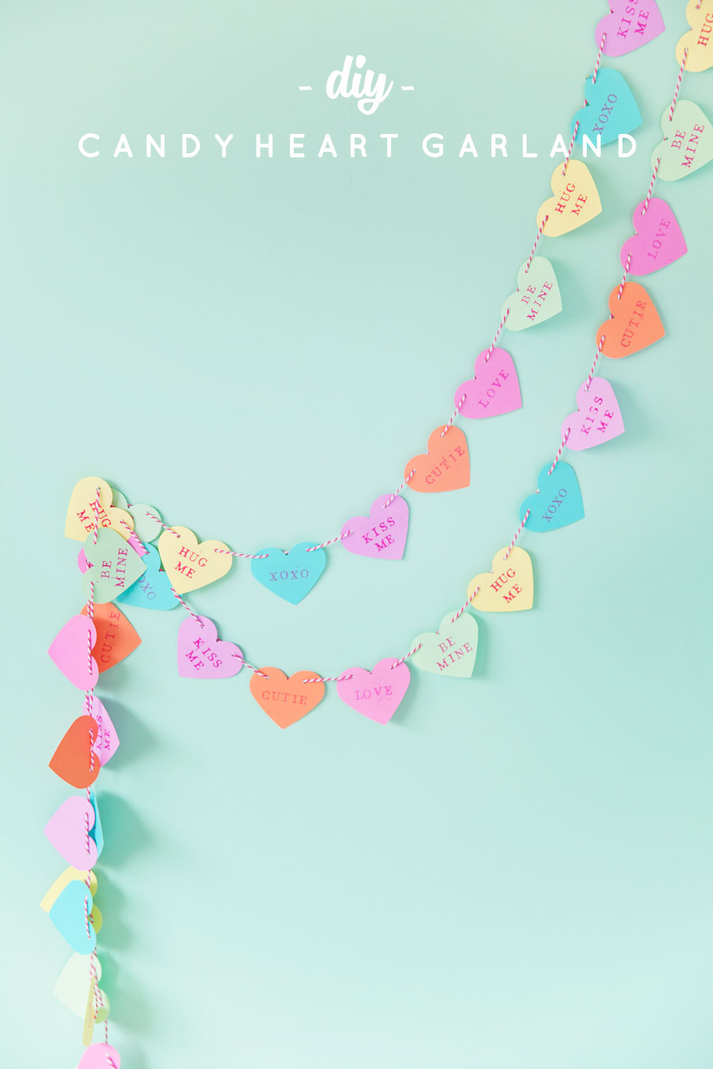 DIY CANDY HEART GARLAND Tell Love And Party