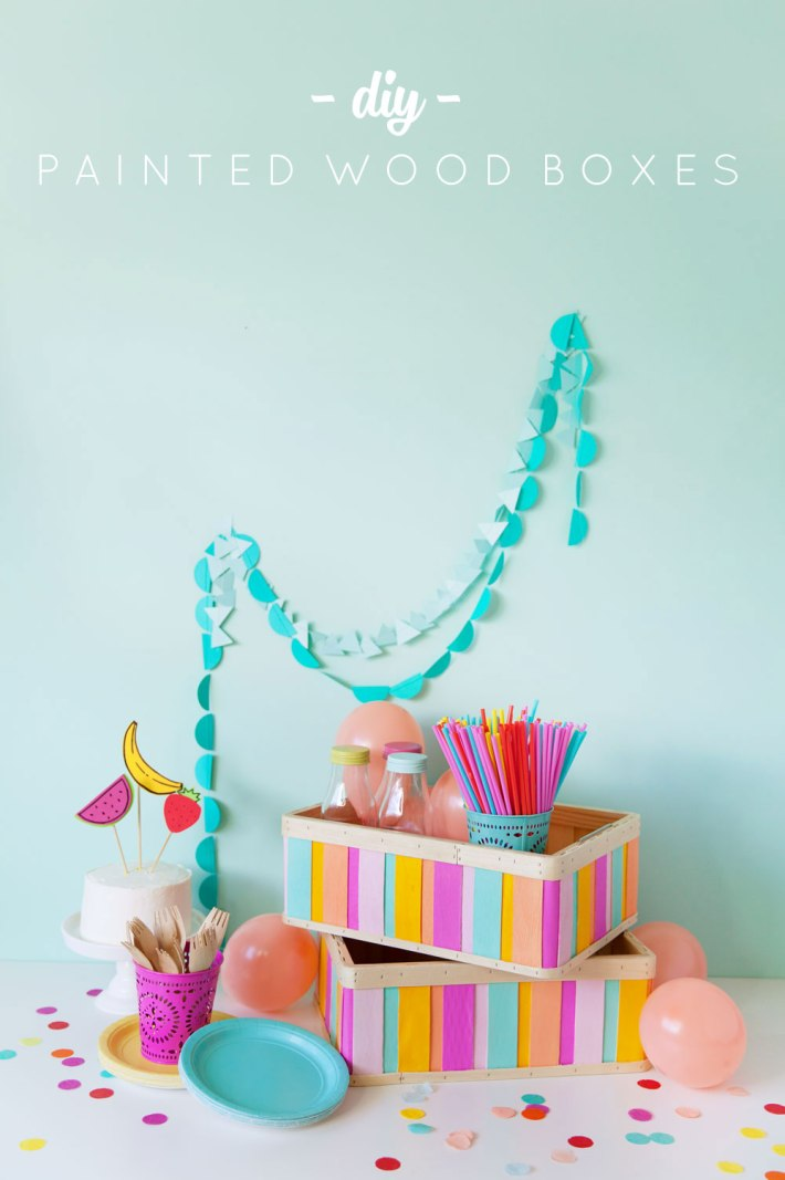 crafts for kids with paper, easy DIY craft ideas for kids, easy paper crafts for kids, DIY craft ideas easy DIY craft ideas for kids DIY-painted-wood-box-perfect-for-parties-or-just-cute-storage---