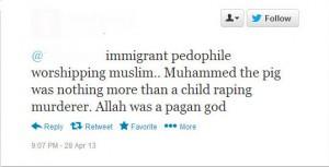 Anti-Muslim tweets