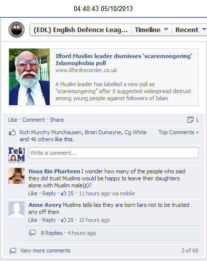 EDL abusing Muslims