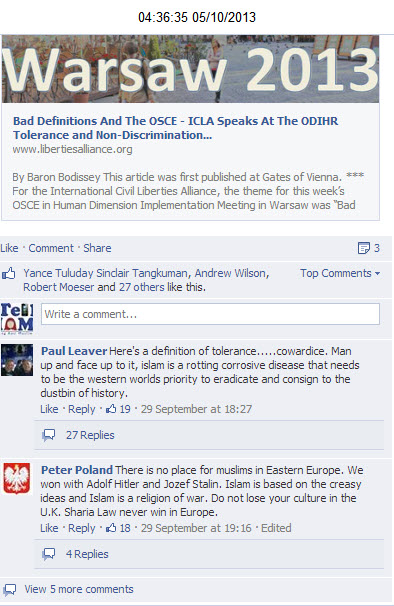 Islam has no place in Europe EDL