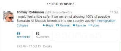 Somali terrorists Tommy Robinson