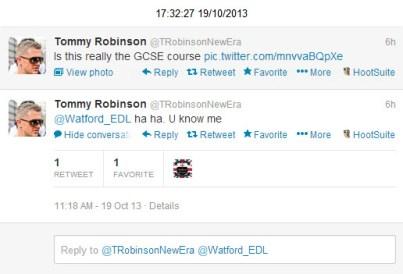 Watford EDL Tommy Robinson