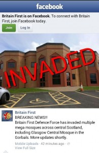 Britain First mosques 'invaded' in Bradford