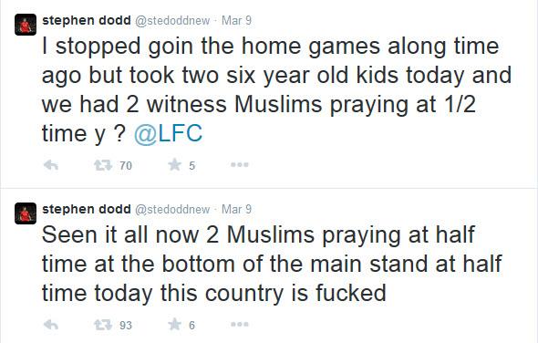 Muslims praying half time