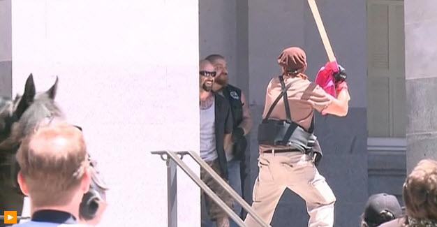 Sacramento stabbing victim says 'Nazis' responsible